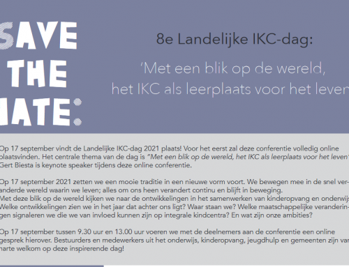 8e Landelijke IKC-dag: 17 september: schrijf je nu in!